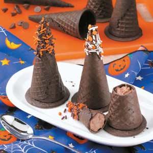 Cappelli delle streghe di cioccolato
