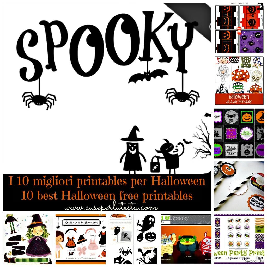 raccolta 10 migliori printables per halloween