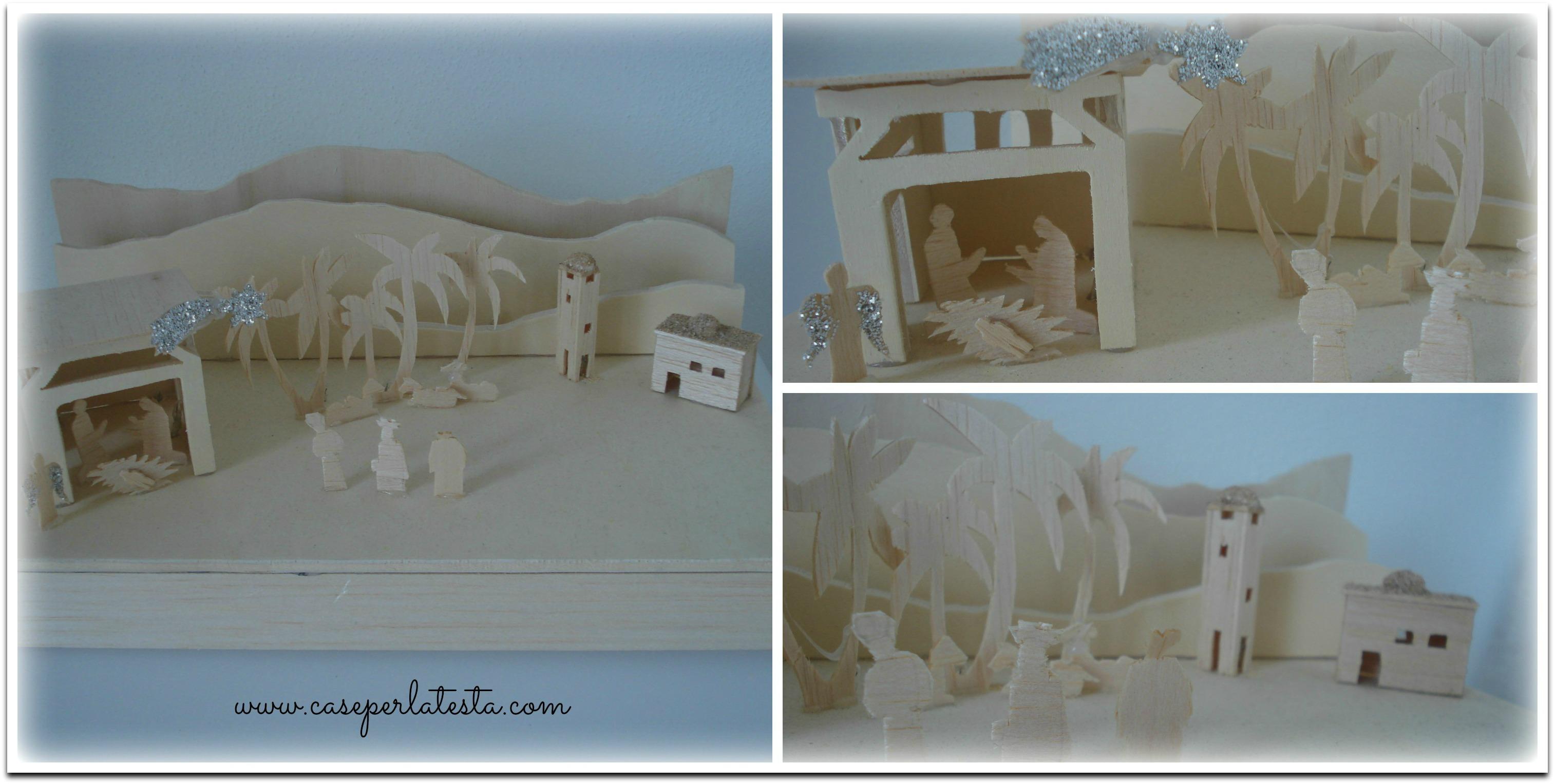 Presepe in scatola crib in a box caseperlatesta for Box per cavalli fai da te