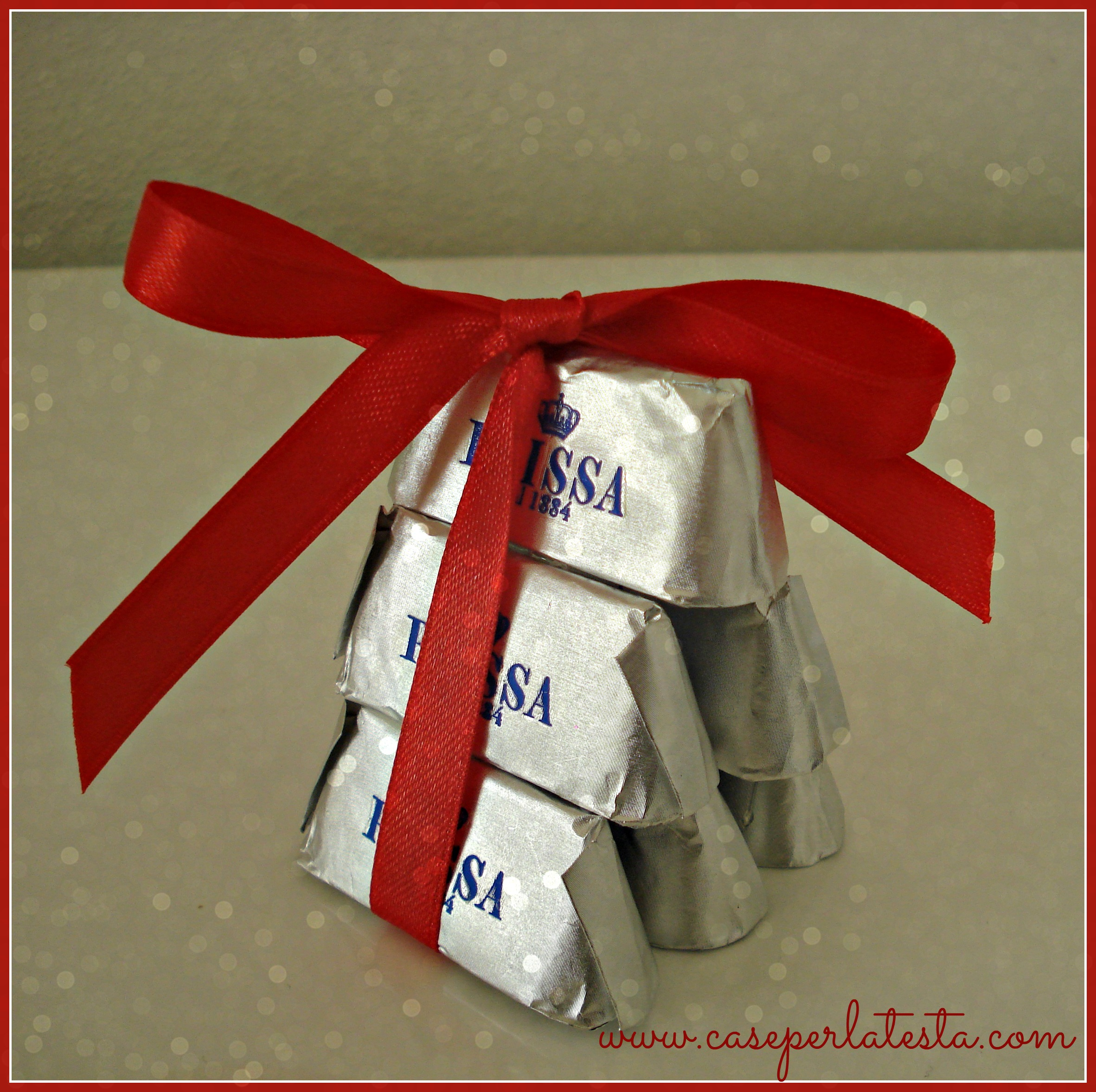 Segnaposto di Natale con cioccolatini * Christmas placeholder with chocolates