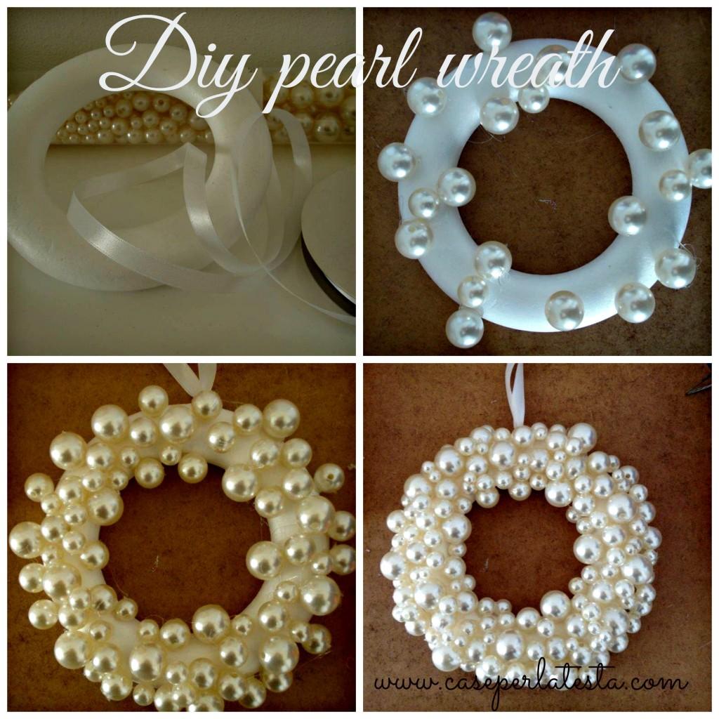 Decori di natale corona di perle fai da te christmas for Perle decoration