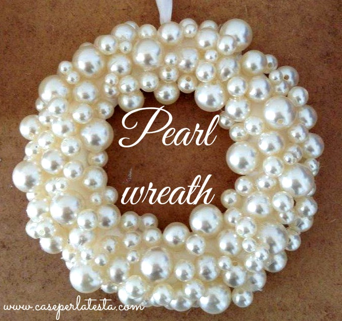 diy pearl wreath