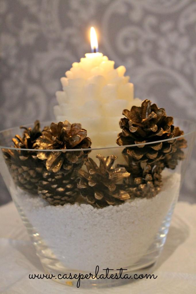 centerpiece christmas pine cone