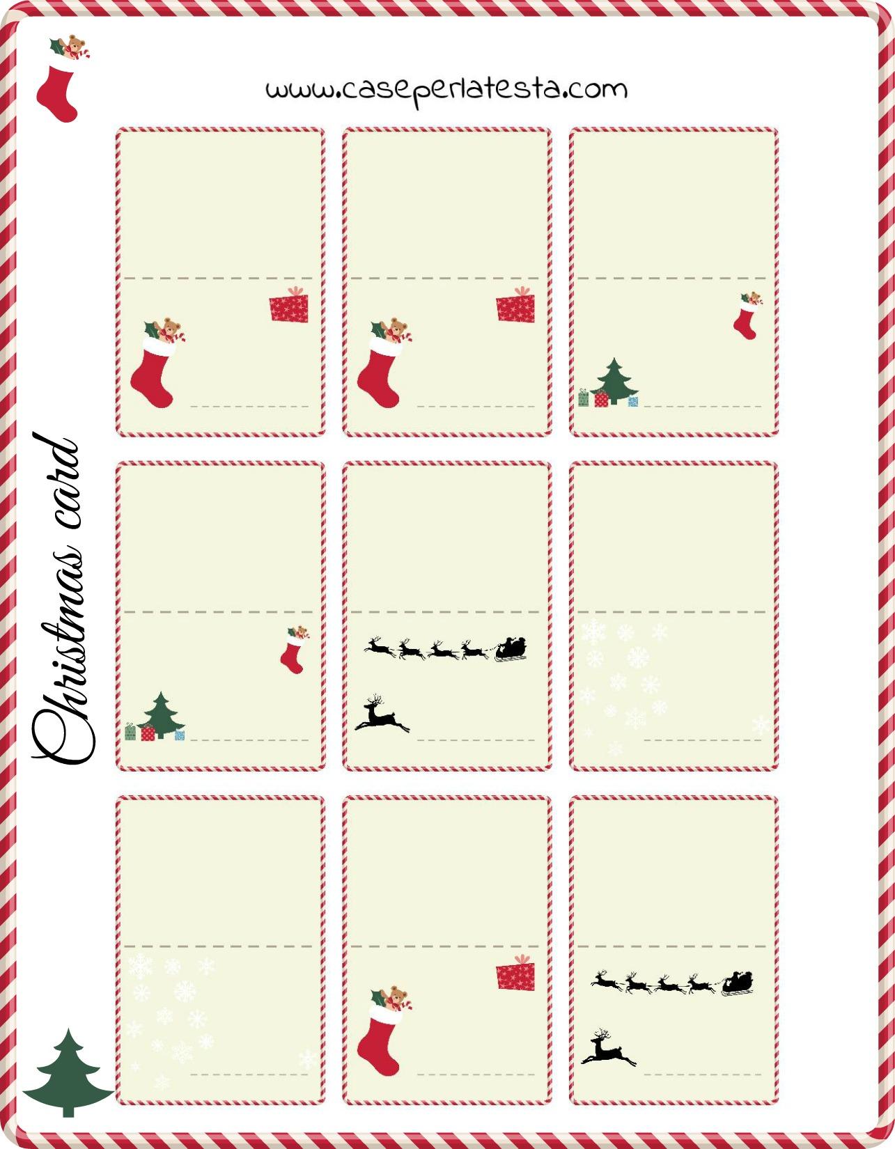 Biglietti Per Regali Di Natale Da Stampare.Biglietti Di Natale Gratis Free Xmas Cards Caseperlatesta