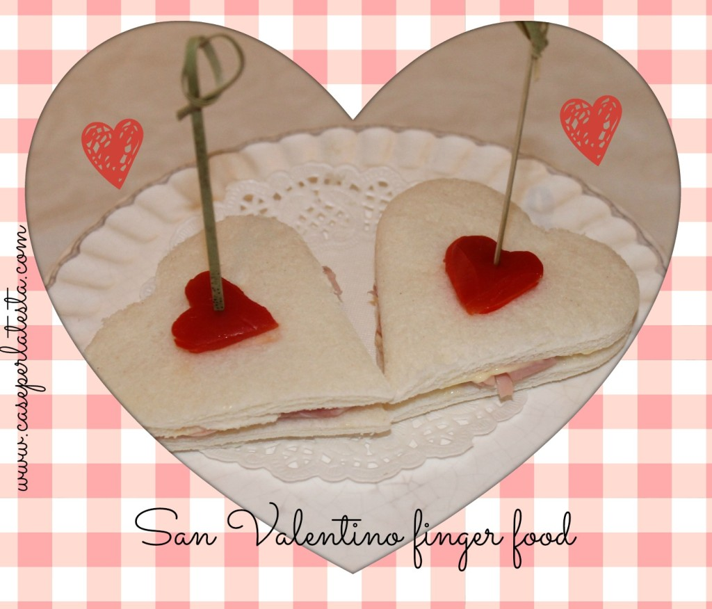 san valentino finger food