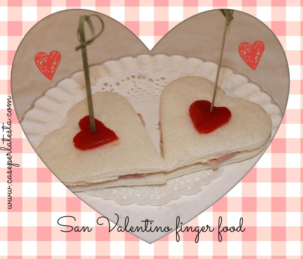 san valentino finger food