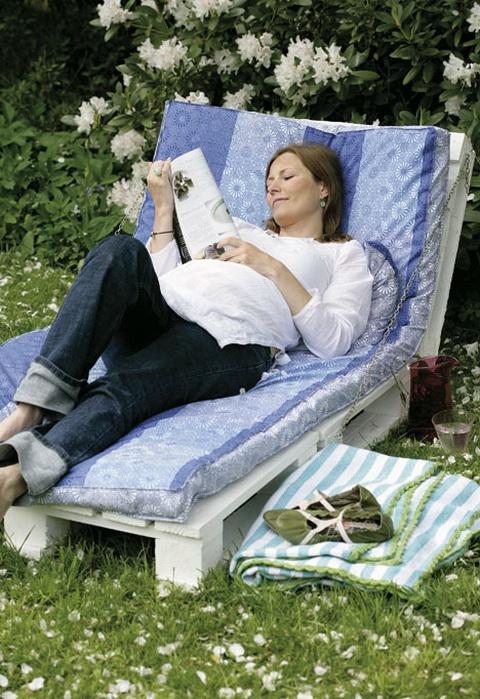 Pallet garden luonge chair