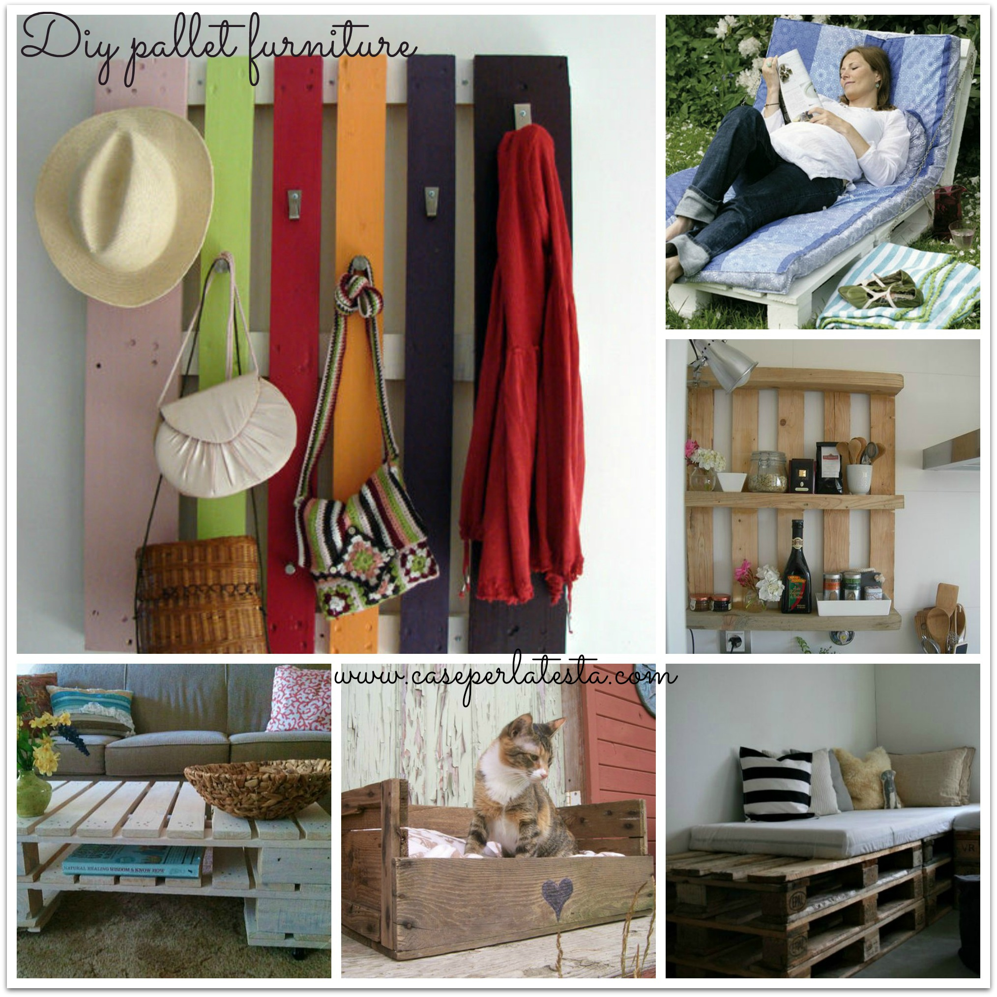 Arredo con pallets di legno * DIY pallets furniture
