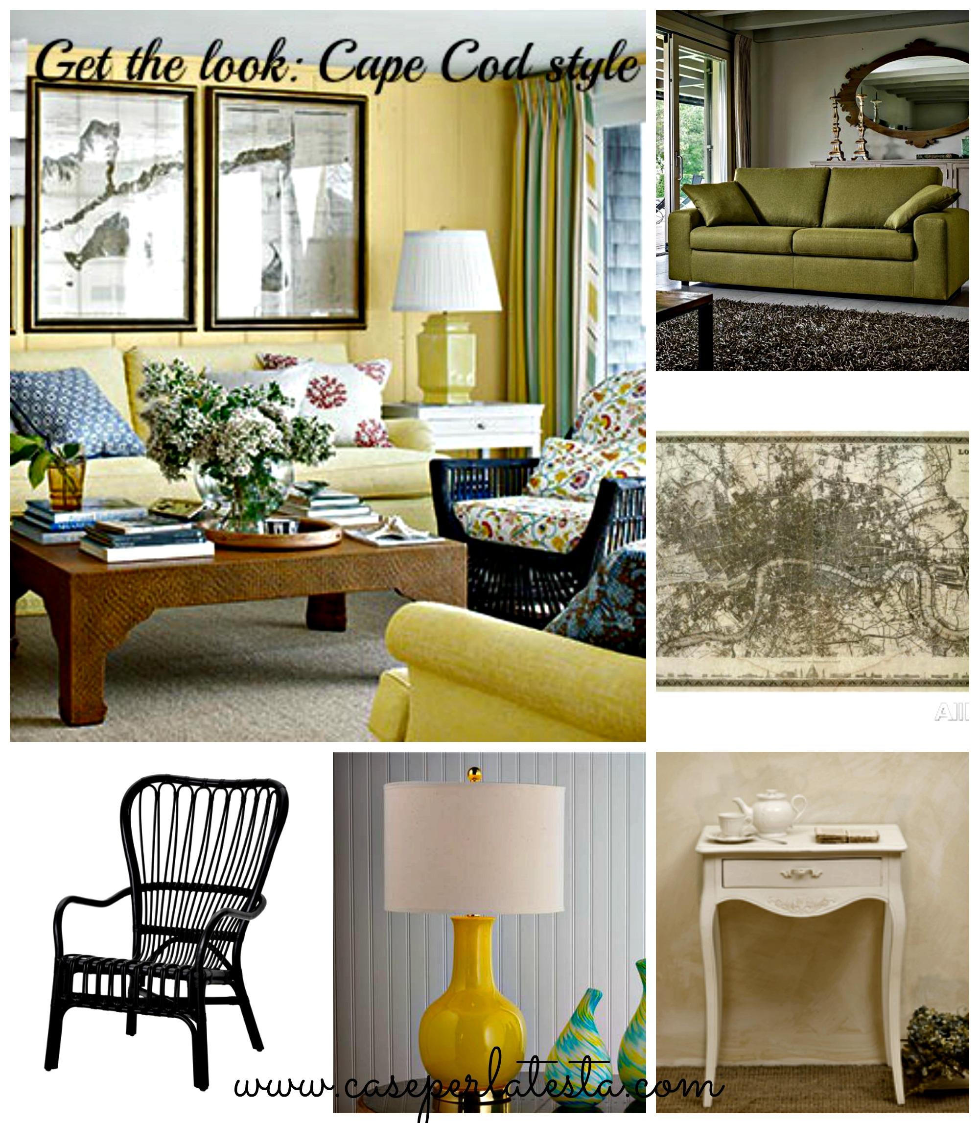 Get the look: come arredare il soggiorno in stile Cape Cod ...