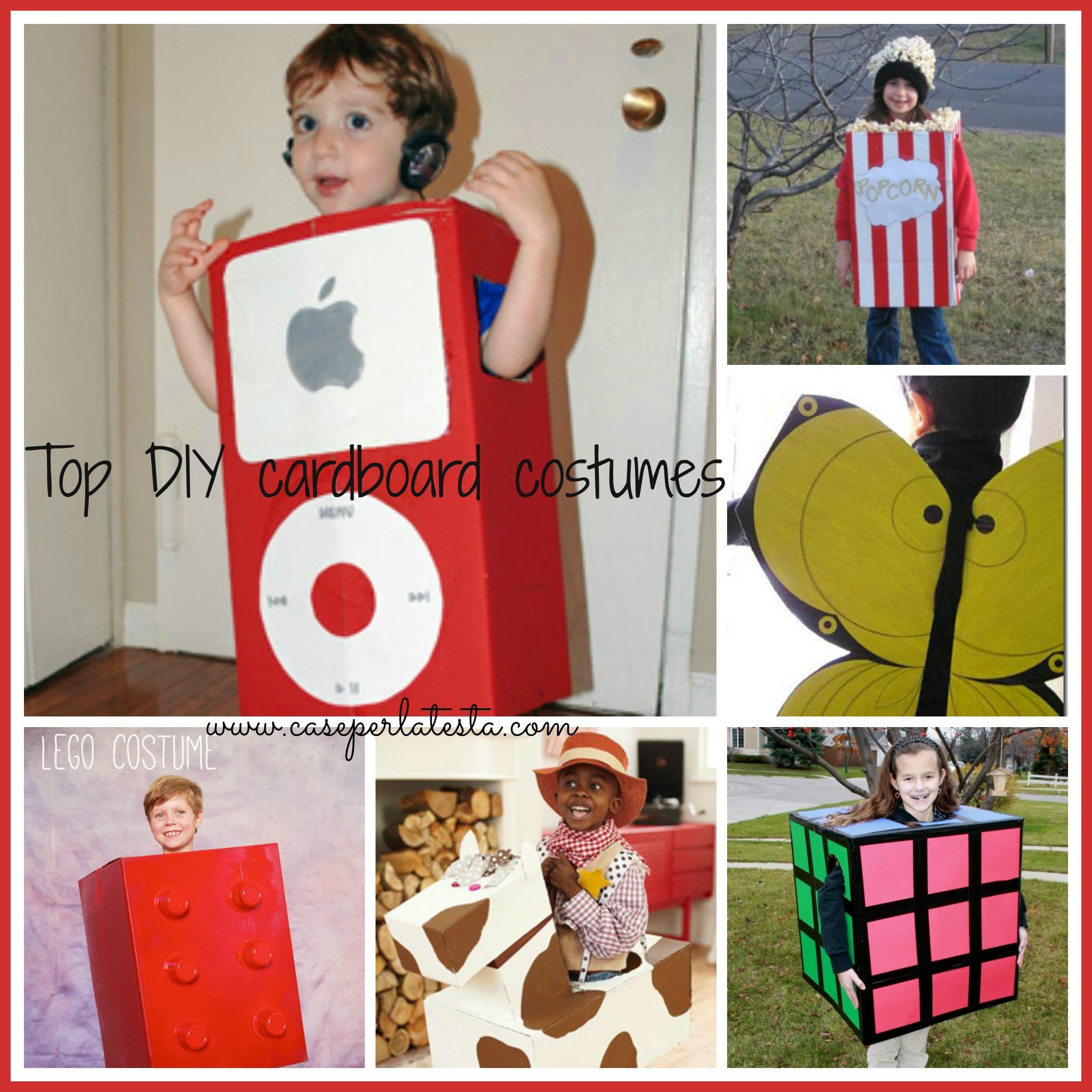 di carnevale fai da te in cartone * Easy cardboard Carnival costumes ...