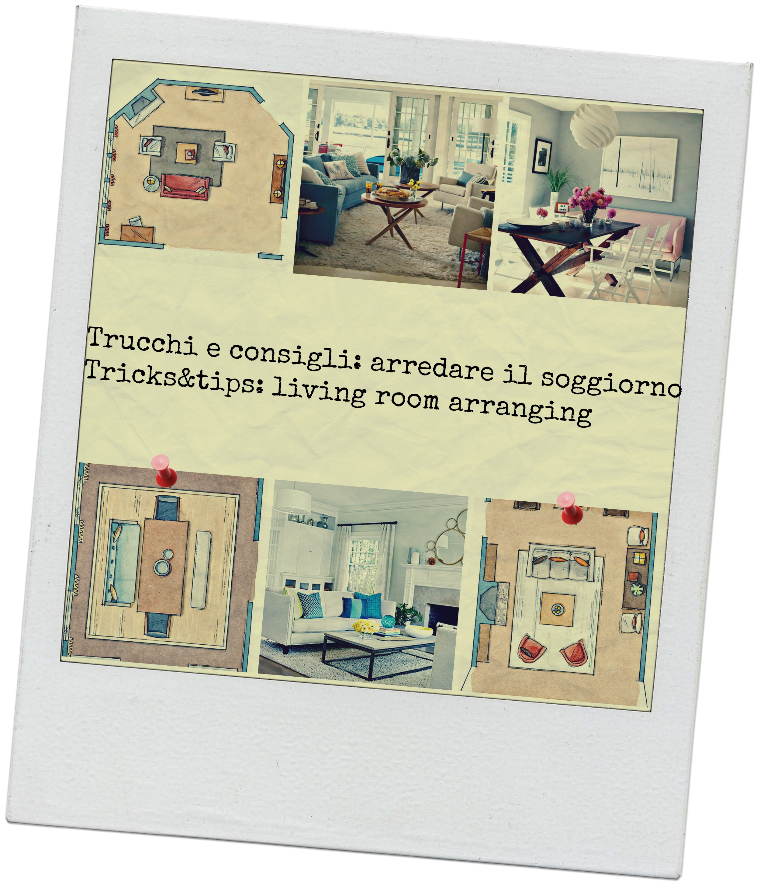 Trucchi per arredare il soggiorno * Tips & tricks for living room decorat...