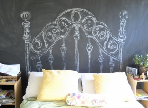 chalk_DIY_headboard