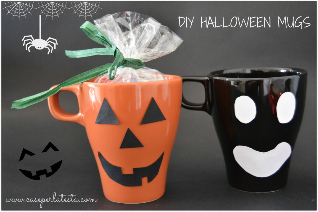 #DIY_Halloween_mugs
