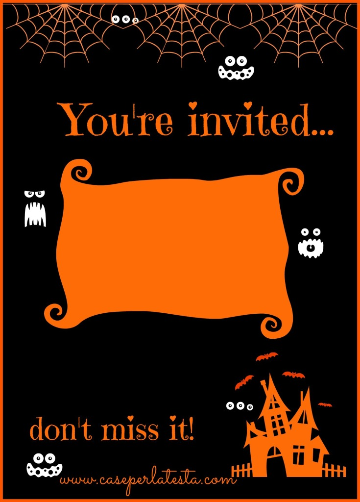 halloween party invitation free