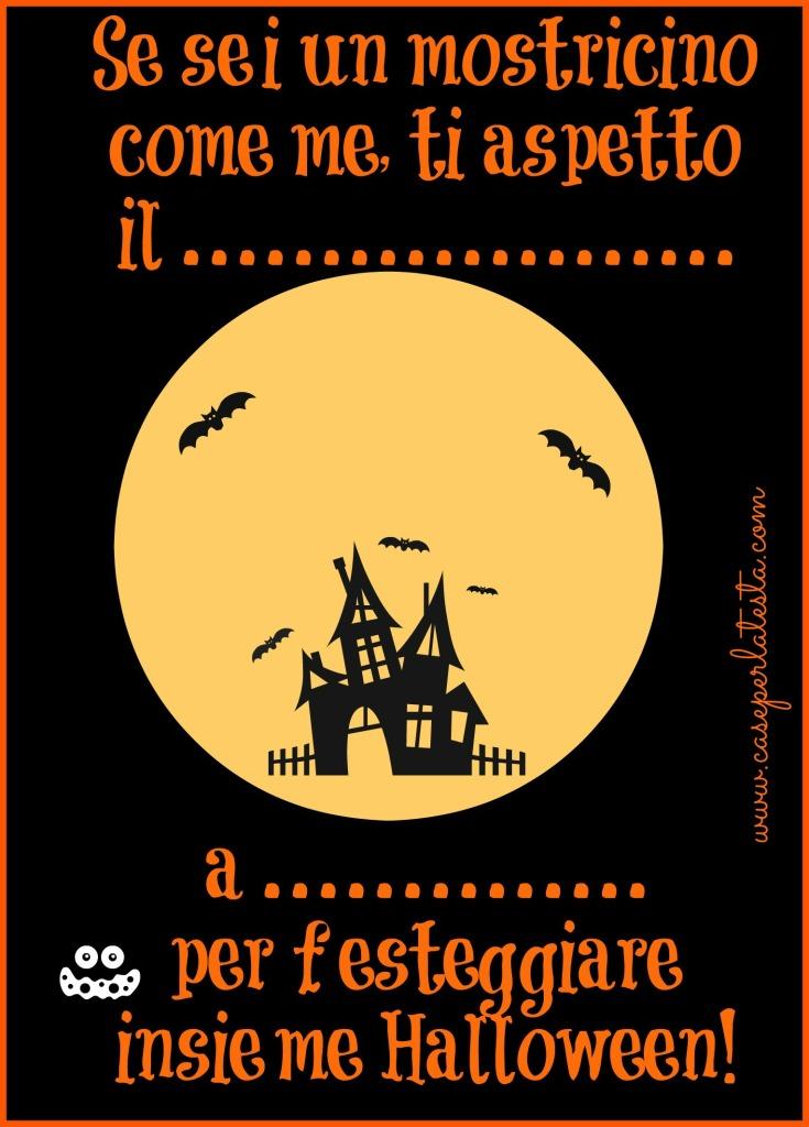 invito festa halloween