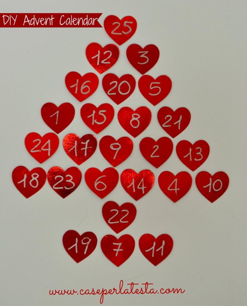 Calendario dell 39 avvento albero di natale fai da te low for Calendario avvento fai da te