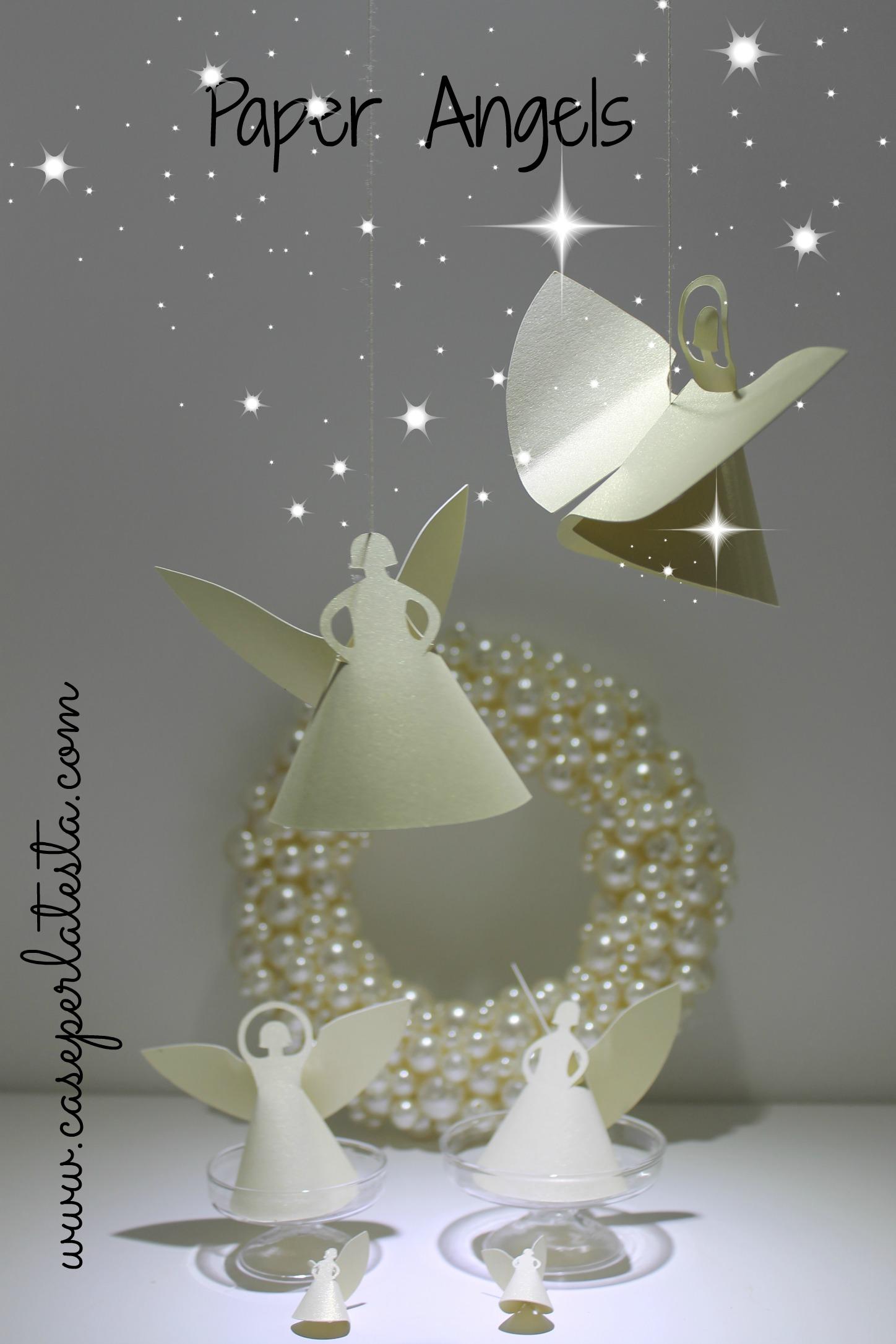 Angeli di carta fai da te diy paper angels caseperlatesta for Angioletti di carta da appendere