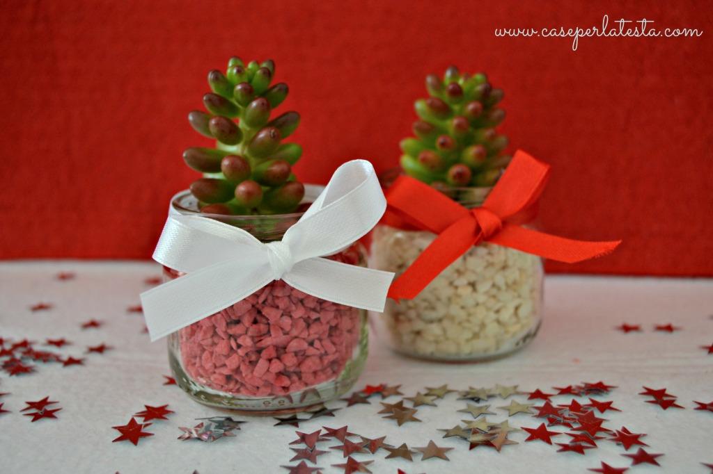progetto di riciclo vasetti omogeneizzati, regalino fai da te per natale, regalo handmade