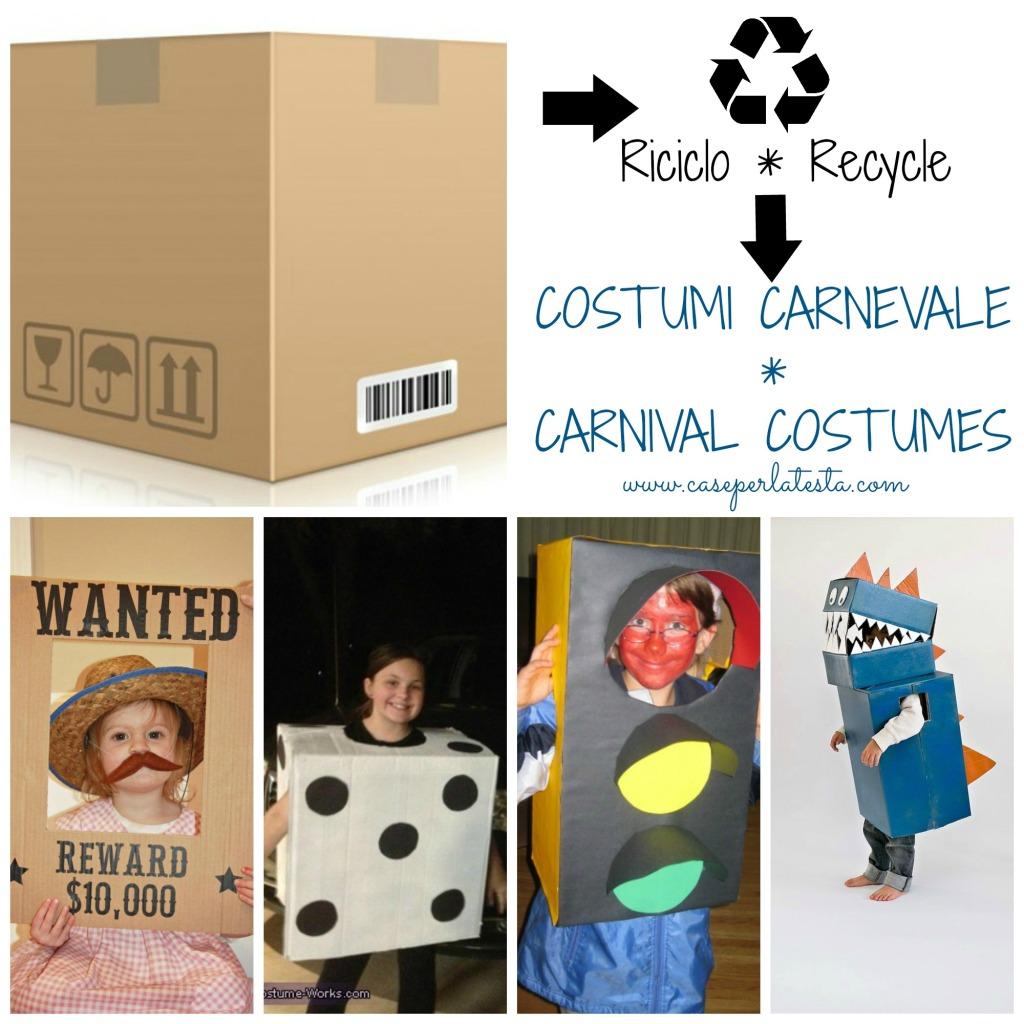 Costumi con scatola cartone fai da te
