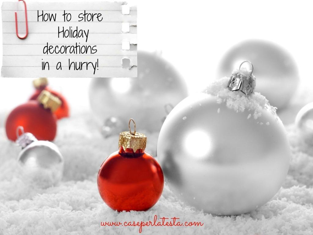 ritirare decorazioni natale
