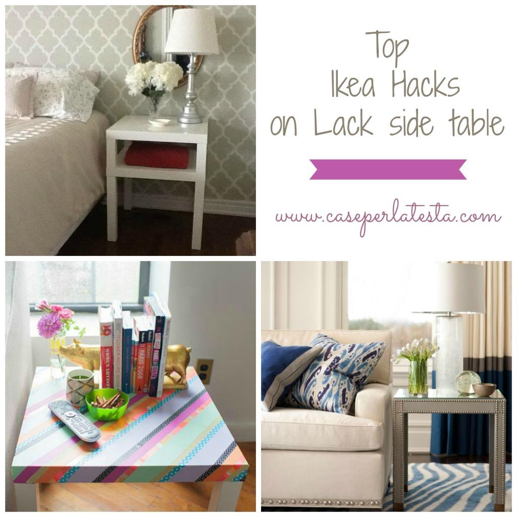 Top Ikea hacks su tavolino Lack * Top Ikea hacks on Lack