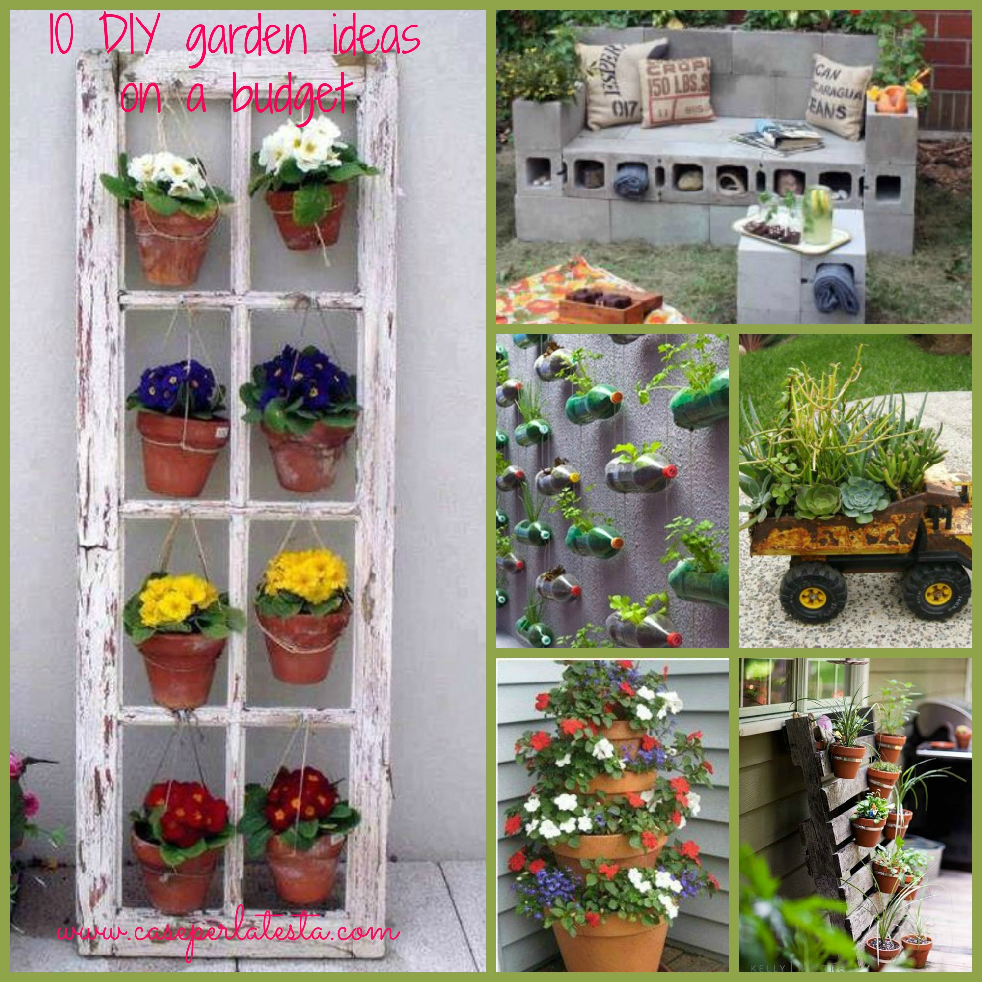 Idee giardino fai da te low cost diy garden ideas on a for Idee da giardino