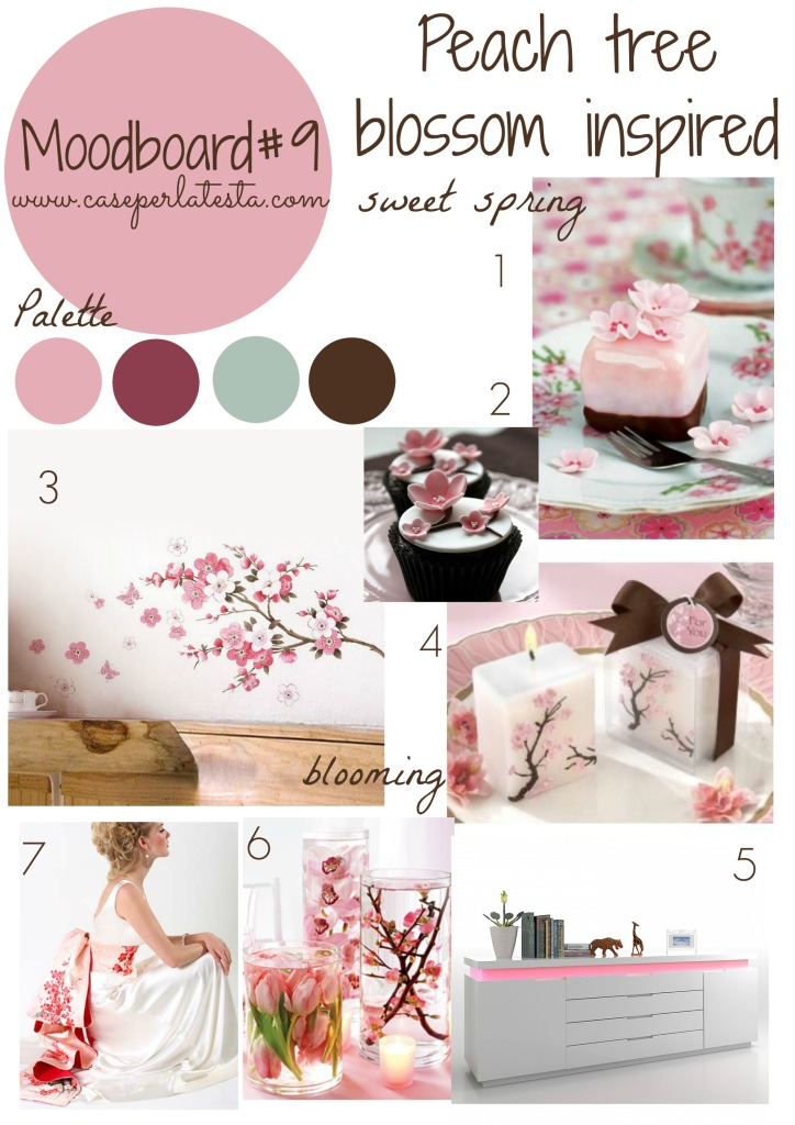 Moodboard#9 peach tree bloosom inspired