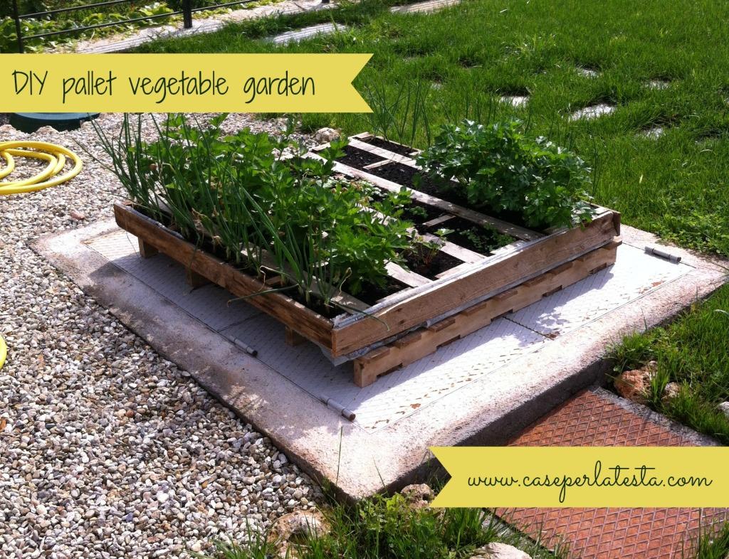 Orto Fai Da Te Con Pallet Diy Pallet Vegetable Garden Caseperlatesta