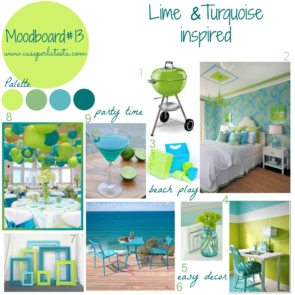 Moodboard#13 - Lime& Turquoise