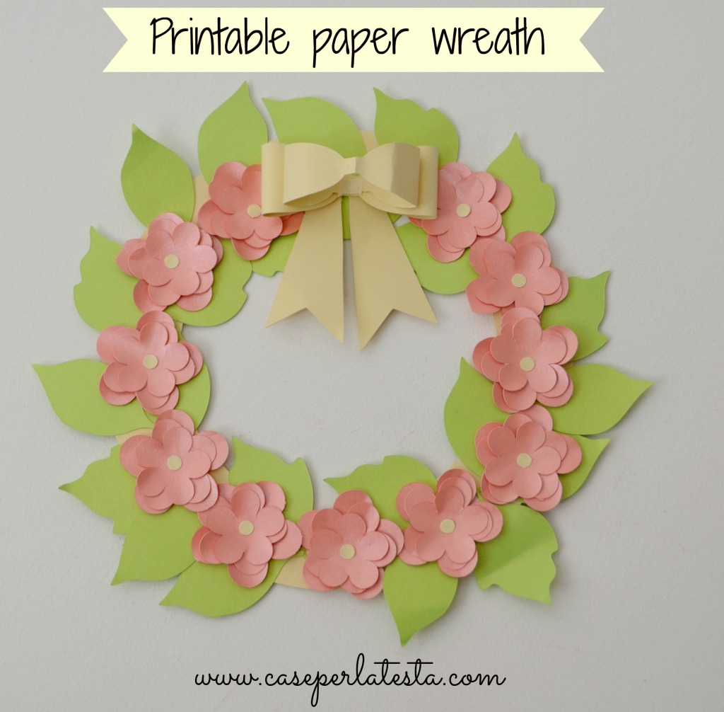 printable paper wreath