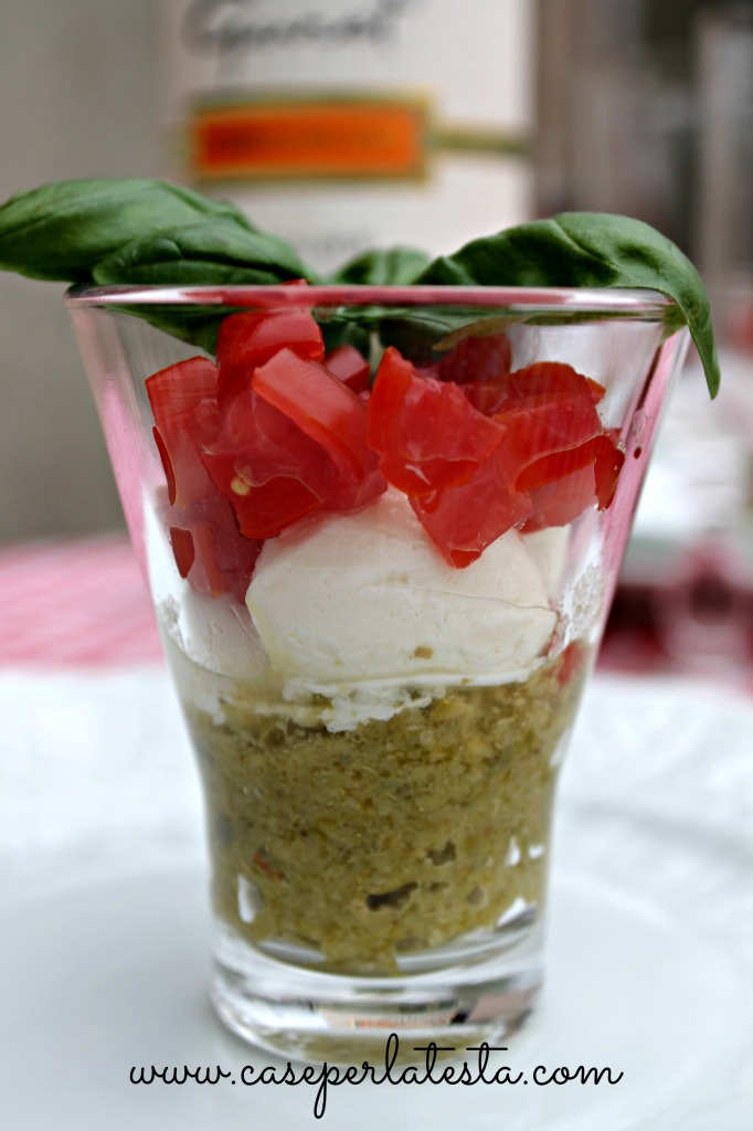 caprese salad with tapenade