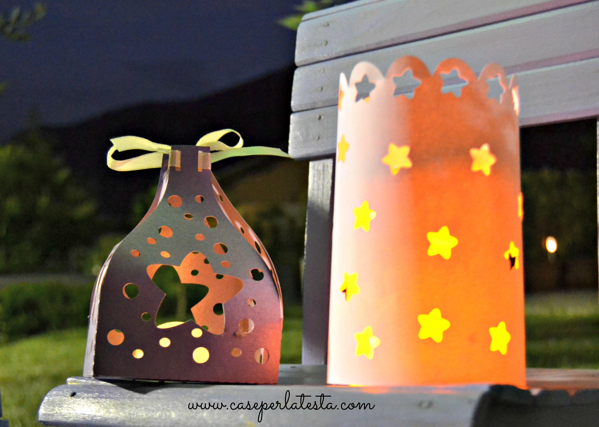 Lanterne di carta fai da te per le sere d'estate * DIY paper lanterns for summer nights ...