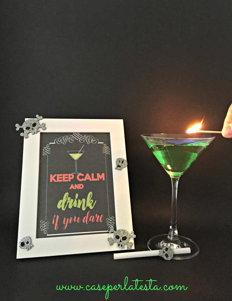 flammable cocktail halloween