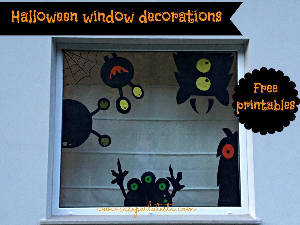 halloween window decoration free