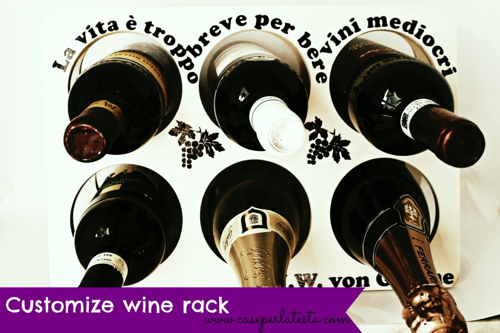 Portabottiglie personalizzato customized wine rack for Portabottiglie vino fai da te