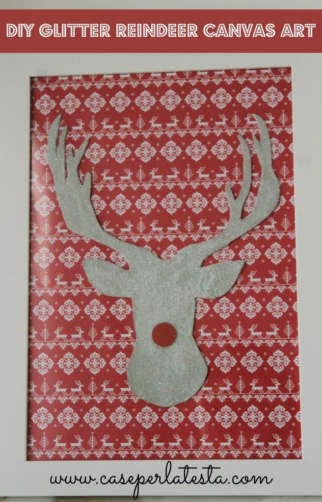 EASY glitter reindeer
