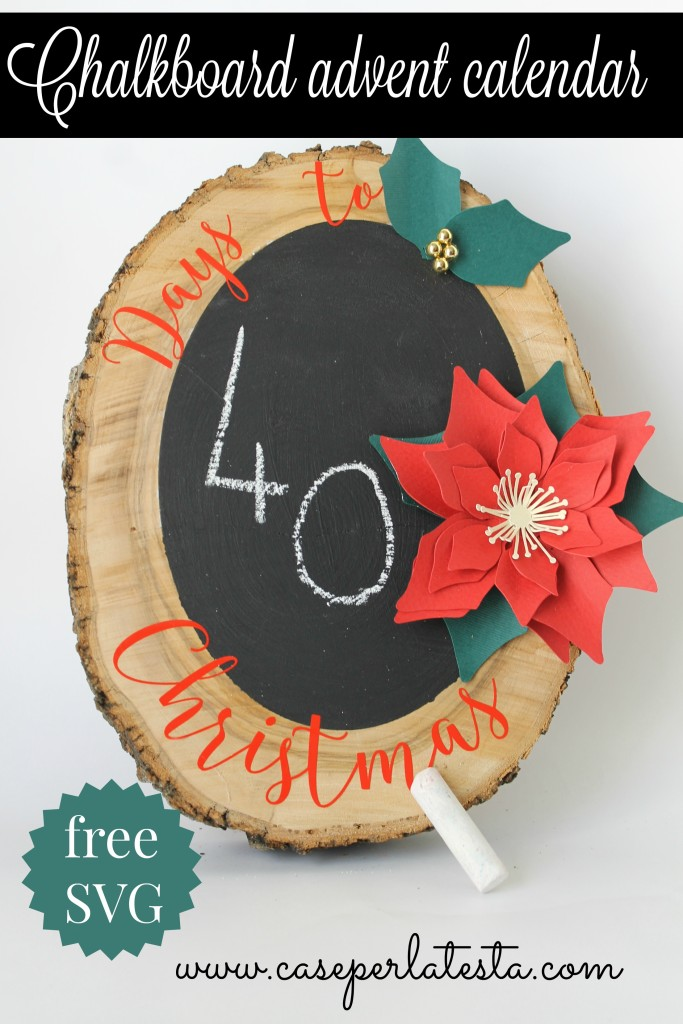 chalkboard advent calendar diy