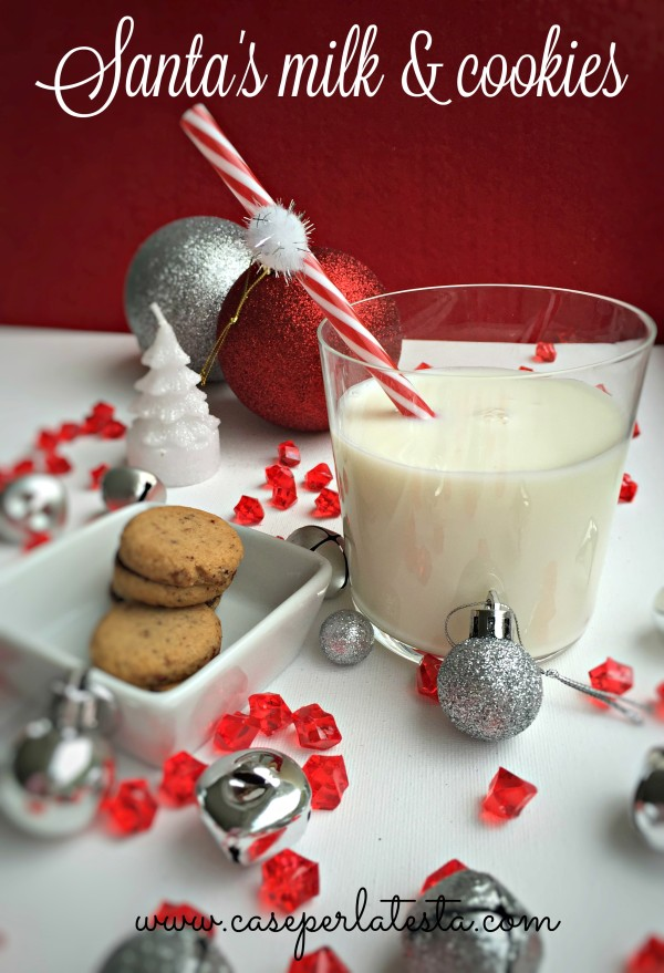 santa milk and cookies