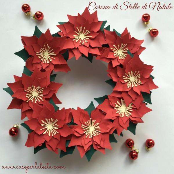abbastanza Corona di stelle di Natale in carta * Paper Poinsettia wreath  YD03