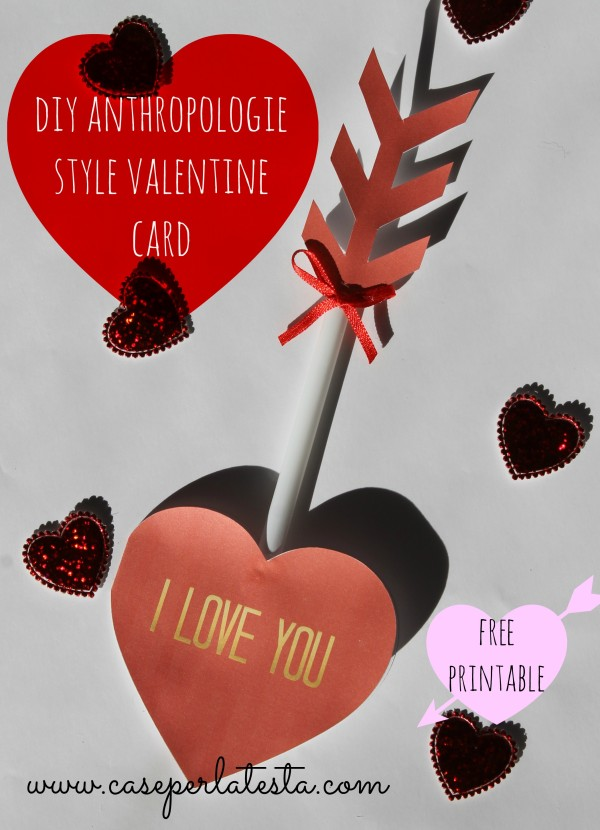 diy anthropologie style valentine card