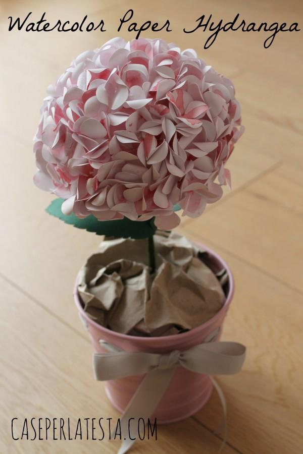 watercolor paper hydrangea