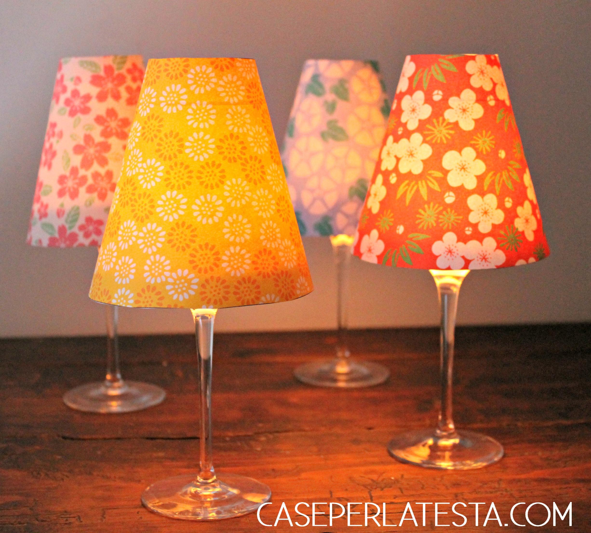 Lampade giapponesi in carta fai da te - Caseperlatesta