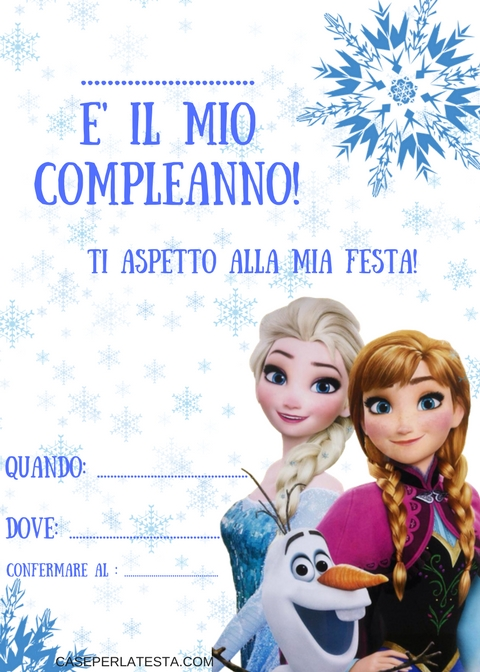 Amato Party a tema Frozen fai da te - Caseperlatesta AT18