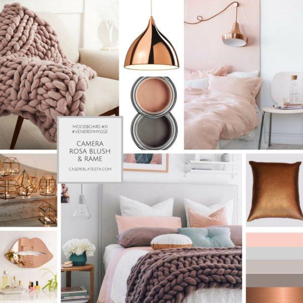 Ispirazioni per la camera da letto in stile Hygge. Rosa blush & rame ...