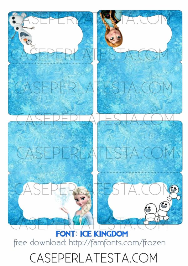 Favoloso Party a tema Frozen fai da te - Caseperlatesta EF02