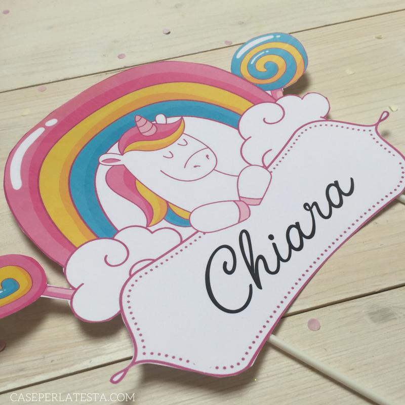 Party Kit Stampabile A Tema Unicorno Caseperlatesta
