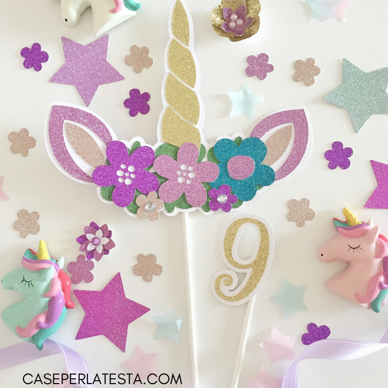 Party Kit Stampabile A Tema Unicorno Caseperlatesta