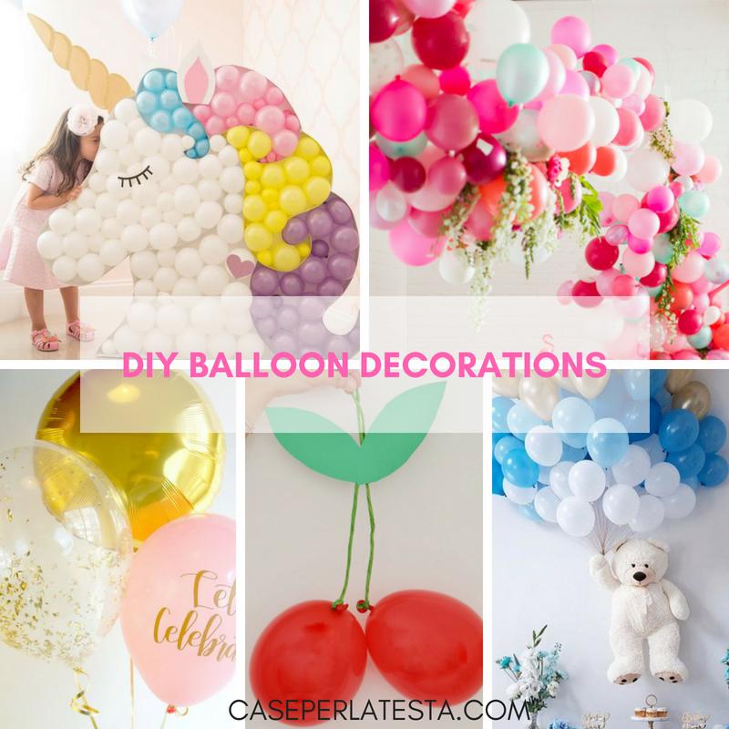 decorazioni fai da te con i palloncini caseperlatesta